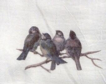 Flour Sack Towel - Bird Towel - Kitchen towel - Tea towel - dish towel - 100% cotton - decorative kitchen towel