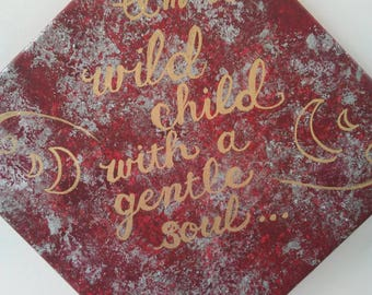 Wild Child, Gentle Soul - acrylic boho home decor