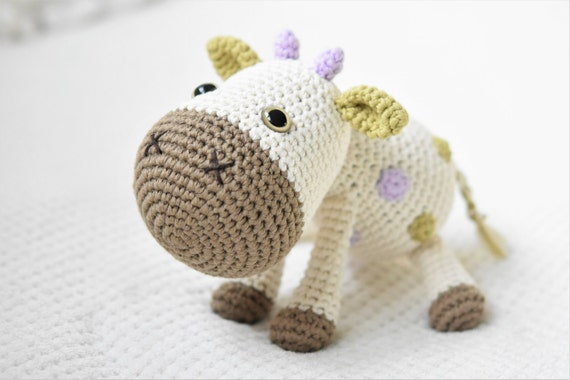 Amigurumi Patterns Cow : Pattern spotty the cow crochet pattern amigurumi pattern pdf