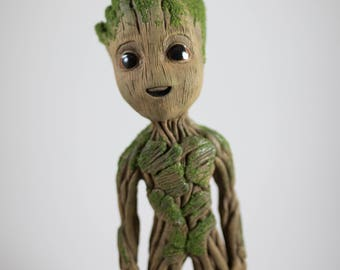 "Baby Groot life size sculpture statue 9"" tall (V2)"