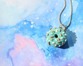 Doughnut Necklace | Donut Necklace | Doughnut Charm | Food Necklace | Food Charm | Miniature Food | Food Jewelry | Polymer Clay Food