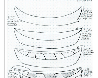 How to Draw a Canoe Tutorial drawing tutorial