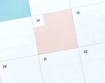 Monthly box stickers for Simplified Planner