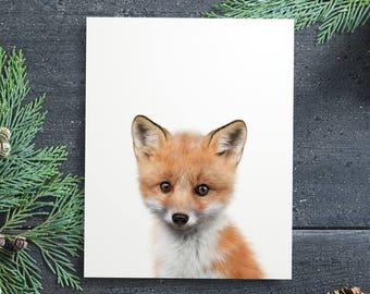 Fox print, PRINTABLE art, Fox wall art, Nursery decor, Animal art, Baby animal prints, Woodland animal prints, The Crown Prints Shop, Kids