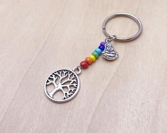 Chakra Keychain | Buddha Keychain | Tree of life | Yoga Keychain | Buddha Jewelry | Gifts
