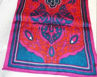Vintage Ellen Tracy Silk Rectangle Scarf