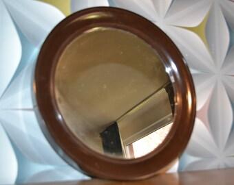 Vintage Mirror 70s Brown