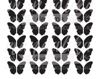 BUTTERFLIES Digital Cut File