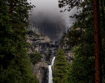 Fall - Lower Yosemite Falls, Yosemite National Park, California