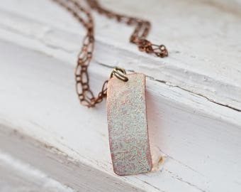 Pastel Personalized Copper Pendant For Her - Copper Necklace For Her - Copper Women  - Daughter Jewelry - Gift for Daughter for Graduation
