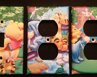 WINNIE The POOH Light Switch and Outlet Plates, ADORABLE!-Free Shipping