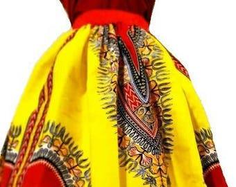 Skirt fabric African dashiki