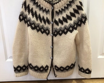 Vintage wool sweater cardigan small