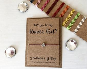 Flower girl proposal, flower girl gift, flower girl bracelet, will you be my flower girl bracelet, bridesmaid proposal