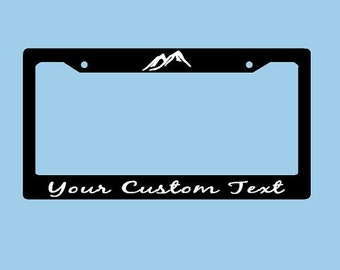 Mountains Custom License Plate Frame | Mountains License Plate Holder | Hiking Adventure License Plate Car Accessories License Plate Art