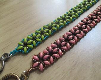 SuperDuo Flower Bracelet