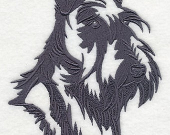 Scottish Terrier Embroidered Flour Sack Hand/Dish Towel
