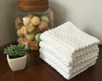 Washcloth, wash, bath, cotton yarn, dish, kitchen, dishcloth, dishrag, washrag, housewares, handmade, crochet, smoke free
