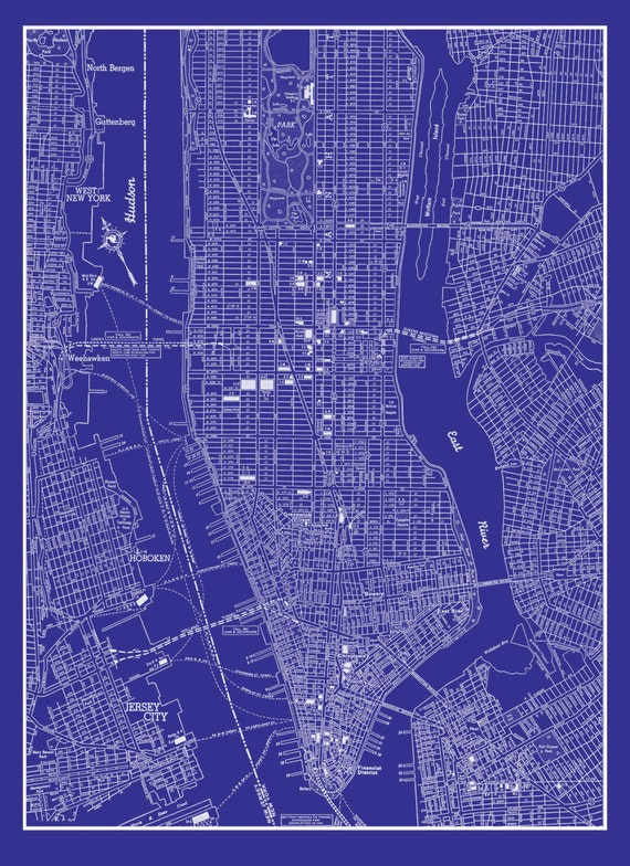 new york city map 1944 new york city manhattan street map