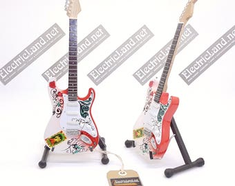 Mini Guitar JIMI HENDRIX Monterey pop festival tribute strato caster memorabilia chitarra miniatura in legno rock music gadget