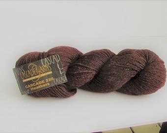 Cascade 220 Heathers, 9408, Brown, Heather Brown, Cascade Yarns, destash, wool