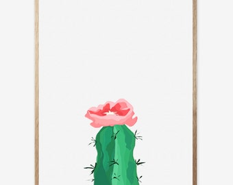 Cactus print, Nursery print, Cactus art, Kids room, Abstract Art Print, Cacti, Digital Print, Modern Art, Abstract cactus, Art Work 16x20