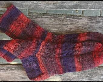 Socken Gr.36/37 ∞ Rose with knots ∞ OPAL Sockenwolle
