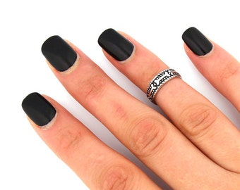 sterling silver knuckle ring Dog bone design above knuckle ring adjustable midi ring Also Toe ring (T52)