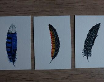 Bird Feather Tickets