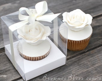 Transparent Cupcake Box with insert