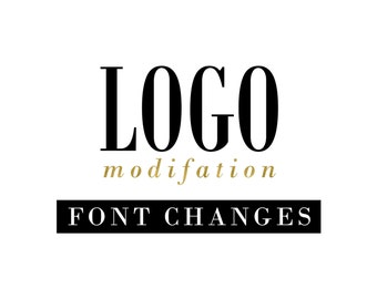 Font Changes for a Premade Logo