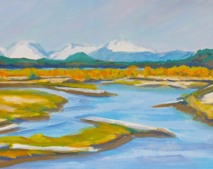 Landscape Painting Out of the Blue East Davis Lake Campground (CG) Oregon Sherri McDowell Artist Oregon by heART