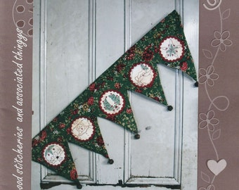 Fireside Blessings,Stitchery Christmas PATTERN Project by Hugs'n'kisses NEW