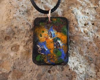 Enameled Copper Pendant (041917-003)