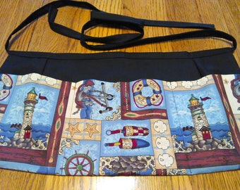 Waitress Apron Lighthouses, Anchors and Sand Dollars