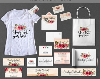 Custom Fashion Branding And Identity Business Card Design Package UNLIMITED REVISIONS Vector File