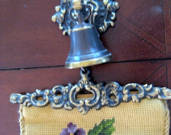 Vintage Neddlepoint Wall Hanging   1920s