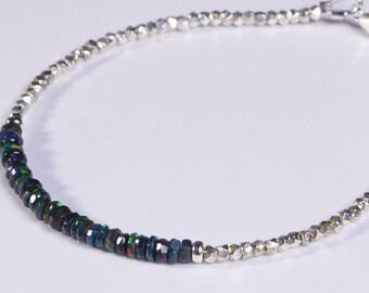 Ethiopian Opal Bracelet Stacked Bracelets Beaded Bracelet Opal Jewelry Ethiopian Opal Jewelry