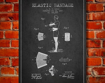 1887 Elastic Bandage patent Canvas Art Print, Wall Art, Home Decor, Gift Idea