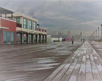 Beach Art, NJ Art, Asbury Park Photos, Pictures of Asbury Park Boardwalk, Boardwalk Photos, Storms, Weather Art, Jersey Shore