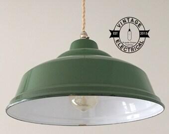 Maxlume 1940 émail industriel ombre vintage lumière plafond salle à manger chambre cuisine table vintage + lampe edison inclus