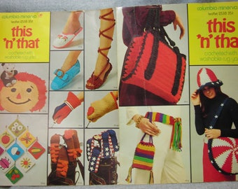 Vintage 1971 This N That Crochet Pattern Booklet
