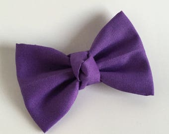 Fabric Bow, Baby Headband, Purple Bow, Bow Headband