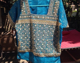 VINTAGE BEADED INDIAN TOp