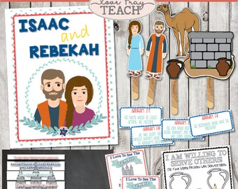 """LDS Primary 6 Lesson 12:""""Isaac and Rebekah"""" Lesson helps include Title Poster, Memory Game, Take home handout and much more!"""