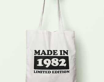 Made In 1982 Limited Edition Tote Bag Long Handles TB1745