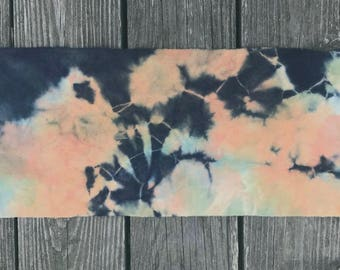 Stormy Sunset - Hand Dyed Wool Fabric Piece used for Rug Hooking and Applique -  Fat Eighth