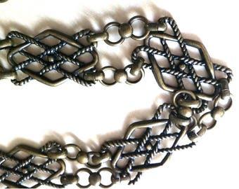 Vintage Adjustable Metal Gold Tone Color  Women's Belt / Gold Tone Metal Ladies Belt