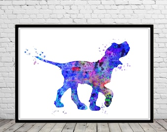 Italian Spinone, Italian Spinone watercolor, Italian Spinone dog, Spinone, watercolor print, animal art, dog, Spinone Italiano (2753b)