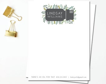 personalized stationery - hand illustrated - flat notes - personal stationery - thank you - note to say hi - custom - business stationery